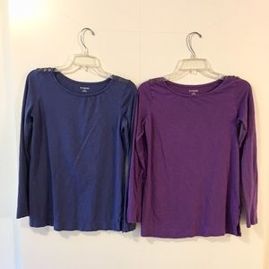 2 for 1 Motherhood Maternity Basic Knit tops Small